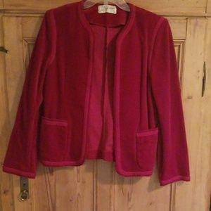 Saks Fifth Avenue Vintage Red Velure Jacket
